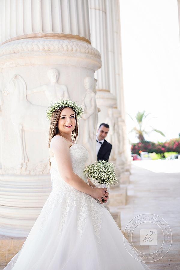 Kıbrıs Kaya artemis otelinde çekilmiş düğün fotoğrafı