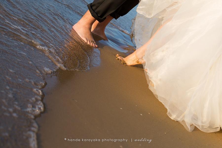Deniz kenarı düğün fotoğraf çekimi