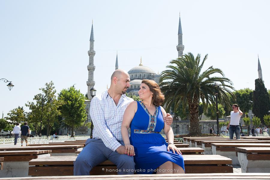 Nişan fotoğrafçısı fotoğrafları Sultanahmet cami