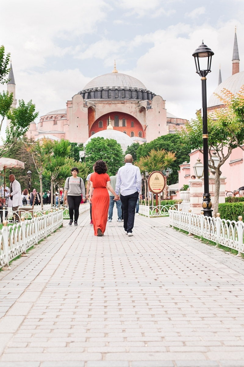 Surprise marriage proposal - Hagia sophia -Vacation photographer istanbul