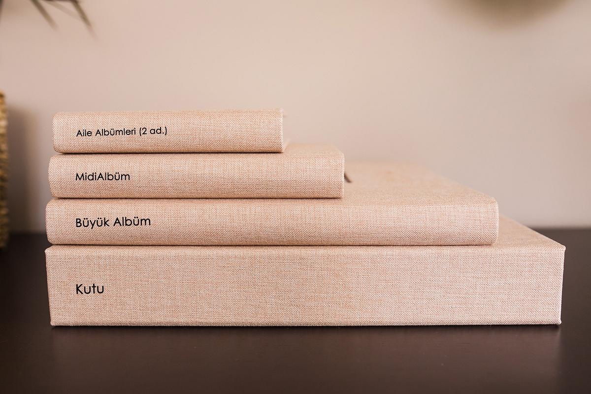 Keten ve çerçeveli albüm seti - Linen Album